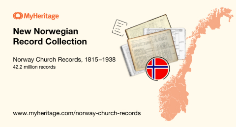 MyHeritage Releases Major Collection of Historical Norway Church Records (Graphic: Business Wire)