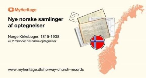MyHeritage udgiver stor samling af historiske norske kirkebogsoptegnelser (Graphic: Business Wire)
