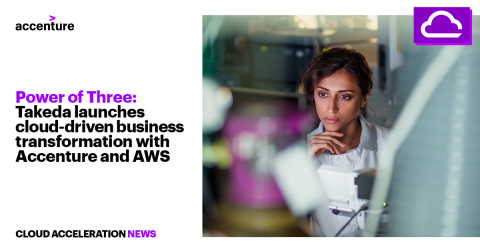 Power of Three: Takeda Launches Cloud-Driven Business Transformation with Accenture and AWS (Photo: Business Wire)