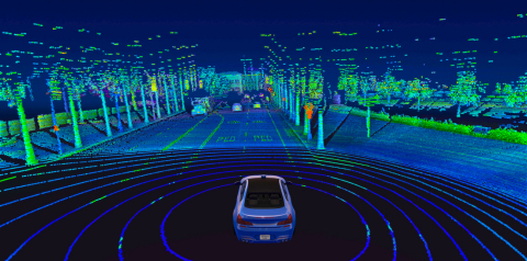 Velodyne Lidar's Alpha Prime™ sensor provides real-time 3D vision that allows autonomous vehicles to see their surroundings. (Photo: Velodyne Lidar, Inc.)