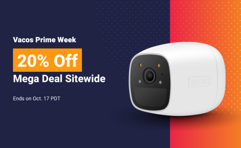 Vacos Security Camera Prime Day Sales 2020 (Photo: Business Wire)