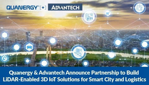 Quanergy and Advantech Announce Partnership to Build LiDAR-based 3D IoT Solutions for Smart City and Logistics (Photo: Business Wire).