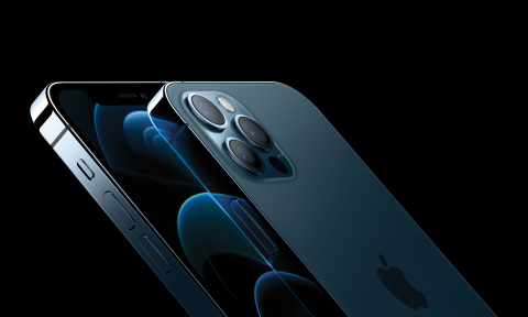 iPhone 12 Pro and iPhone 12 Pro Max feature a new, elevated flat-edge stainless steel design and Ceramic Shield front cover for increased durability. (Photo: Business Wire)