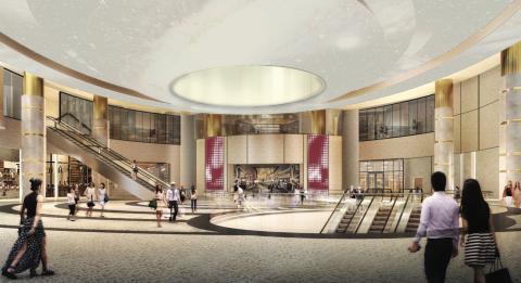 An interior rendering of the new Hyatt Regency JFK At Resorts World New York City (Photo: Business Wire)