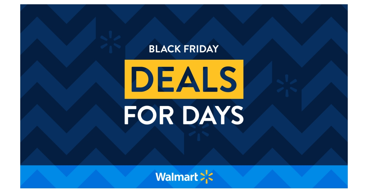 Walmart Announces Black Friday Deals For Days A Reinvented Black Friday Shopping Experience Business Wire