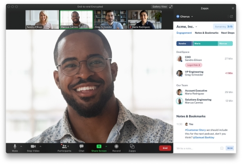 Chorus' Zapp will transform how Revenue teams interact in real-time with customers, from the first hello to delivering on next steps. For more information, visit Chorus.ai (Photo: Business Wire)