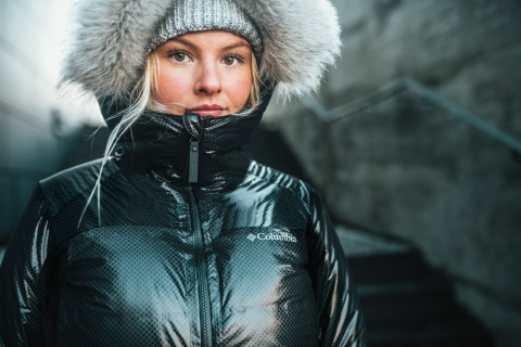 The Barrett Spur Black Dot Parka features a full suite of Columbia technologies including an Omni-Heat Black Dot, advanced thermal-reflective Omni-Heat 3D lining, and Omni-Heat Stretch Insulation. (Photo: Business Wire)