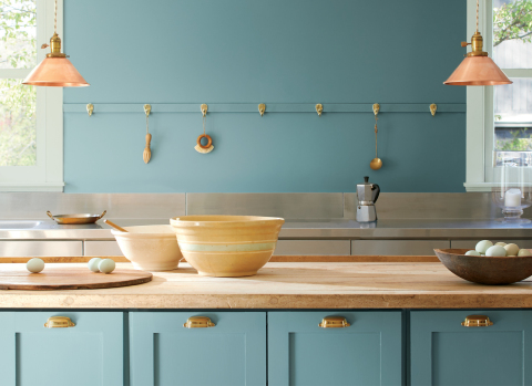 Benjamin Moore revealed its Color of the Year 2021 as Aegean Teal 2136-40, an intriguing blue-green that reflects natural harmony and invites us to reflect and reset. (Photo: Business Wire)