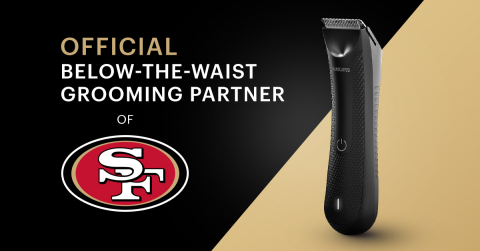"""This summer, the San Francisco 49ers designated MANSCAPED as its first ever """"Official Below-the-Waist Grooming Partner,"""" resulting in an outpouring of excitement from fans and the media. (Graphic: Business Wire)"""