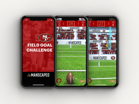 Join the 125,000 monthly active users on the 49ers App, and try not to get hooked on the newest interactive game by MANSCAPED! (Photo: Business Wire)