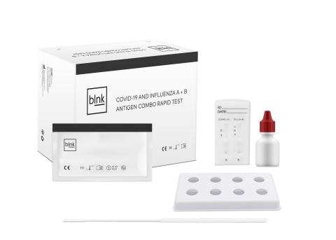 blnk COVID-19 and Influenza A + B Antigen Combo Rapid Test Kit (20 Tests) (Photo: Business Wire)