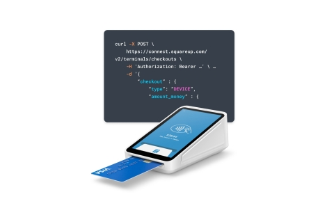 Square Terminal API connects Square Terminal, the all-in-one credit card machine, to point of sale systems built on any platform. (Photo: Business Wire)