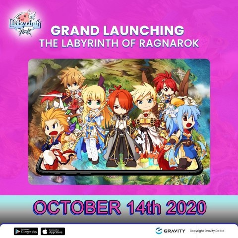 New idle MMORPG The Labyrinth of Ragnarok was launched in the Philippines, Singapore, and Malaysia at 13:00 on October 14 (UTC+8). The game serviced Gravity Co., Ltd., a global game company, and operated by Gravity Game Link (GGL), an Indonesian branch of Gravity. The Labyrinth of Ragnarok, an idle MMORPG set in the fictional world of Ragnarok, is characterized with diverse game stages and monsters. The game provides not only the idle automatic hunting content for simple character growth but also a range of differentiated contents that allow users to experience the fun of controlling the game, such as to escape mazes and play PVP battles. The automatic play content also includes MVP and boss levels for added fun as well as a range of other entertaining contents. (Graphic: Business Wire)