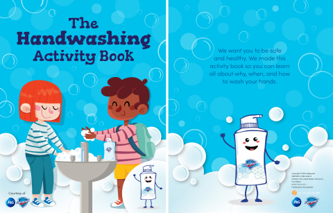 The handwashing education covers what germs are and emphasizes how and why we wash our hands through a series of lesson plans, a digital activity book and videos. (Graphic: Business Wire)