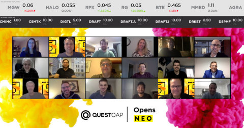 QuestCap Inc., a medical technology company currently focused on the prevention, detection, and treatment of COVID-19, celebrates a Digital Market Open as they graduate to the NEO Exchange today following a voluntary delisting from the Canadian Securities Exchange. (Photo: Business Wire)