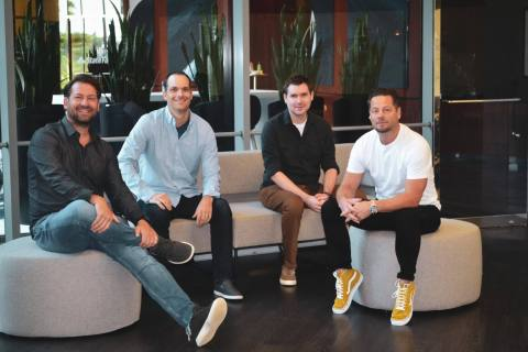 Popmenu founders Brendan Sweeney, Mike Gullo, Justis Blasco and Tony Roy (Photo: Business Wire)
