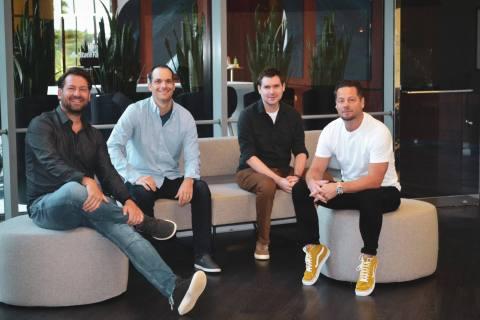 Popmenu founders Brendan Sweeney, Mike Gullo, Justis Blasco and Tony Roy (Photo: Business Wire)