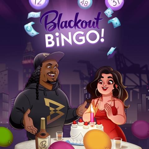 NFL Running Back & Super Bowl Champ Marshawn Lynch Celebrates Blackout Bingo's Birthday! (Graphic: Business Wire)