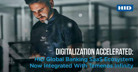 HID has collaborated with Temenos to expand the features of its multi-factor authentication solution that is available via the Temenos MarketPlace (Photo: Business Wire).