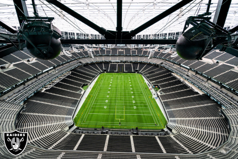 MatSing antennas built into Allegiant Stadium's catwalk. Photo Credit: Las Vegas Raiders