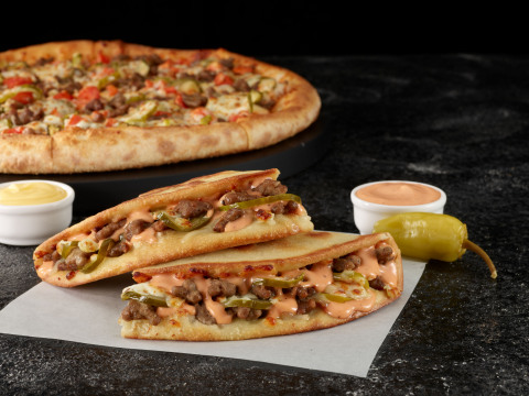 Papa John's is bringing back its fan-favorite Double Cheeseburger Pizza, along with the launch of the new Double Cheeseburger Papadia. (Photo: Business Wire)
