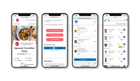 Whisk adds The Kroger Co. to Partner Ecosystem, Making Online Recipes Instantly Shoppable at Kroger Family of Stores (Photo: Business Wire)