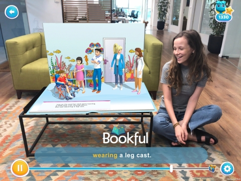 The Bookful app brings Barbie® books to life using Augmented Reality technology. (Photo: Business Wire)