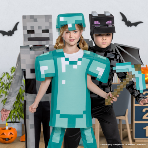 Minecraft Halloween Costumes (Photo: Business Wire)