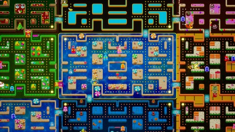 PAC-MAN Mega Tunnel Battle gameplay (Graphic: Business Wire)