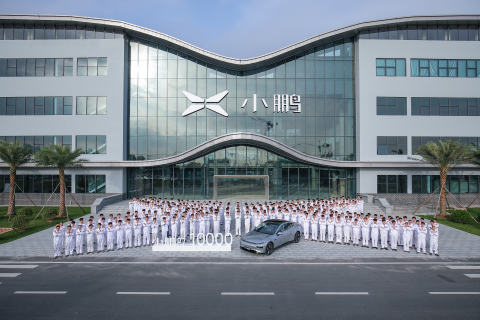 The 10,000th P7 completed production at XPeng Zhaoqing factory (Photo: Business Wire)
