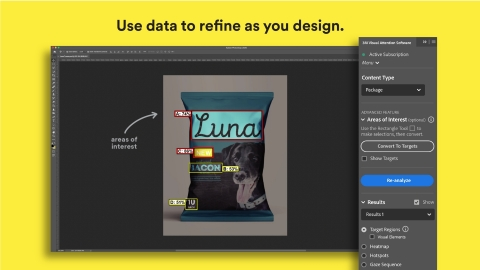 Integrate the 3M™ Visual Attention Software plugin for Adobe® Photoshop® into your workflow, and support your design decisions with data.
