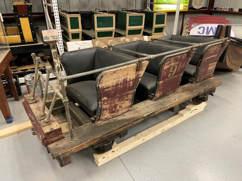 A train from the former Rocky Springs Park Jack Rabbit Roller Coaster has found a new home at the National Roller Coaster Museum in Plainview, Texas. (Photo: Business Wire)