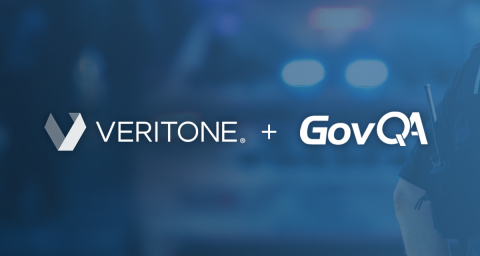Veritone and GovQA's strategic relationship will enable government agencies to increase transparency, speed the release of public records at a reduced cost and address public demand for accountability. (Graphic: Business Wire)