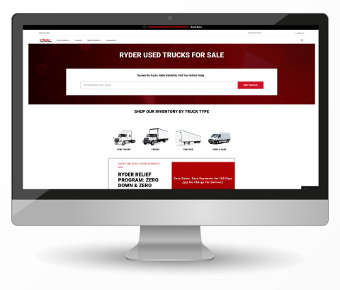 Ryder's new fully responsive, mobile-friendly, used vehicle sales website, www.ryder.com/used-trucks includes an expanded inventory of used vehicles, enhanced search tools, and new innovative features to make it easier for customers to locate the best pre-owned vehicle near their business. (Photo: Business Wire)