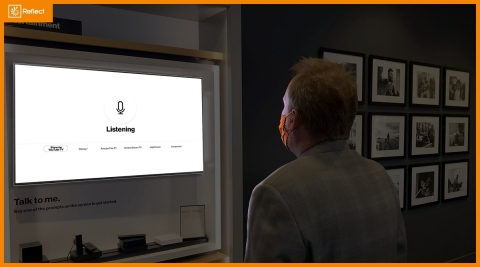 Reflect Systems and BrightSign partnered with Verizon to build the first voice-directed, branded digital signage experience to ever be deployed at scale. (Photo: Business Wire)