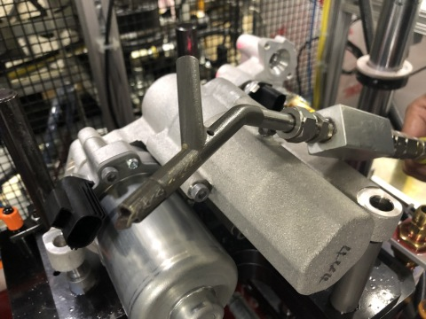 Eaton's Vehicle Group reduced cost and development time using its 3D metal printing capabilities to produce this oil fill nozzle. (Photo: Business Wire)