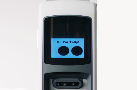 Tally 3.0, the newest iteration of Simbe's best-in-class autonomous inventory robot, features a new optical system, enhanced data processing functions, and greater durability and maneuverability. (Photo: Business Wire)