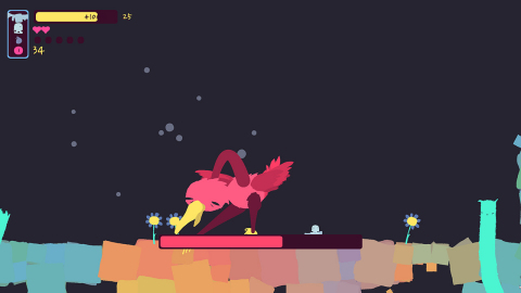 Journey your way through deep, dark and chaotic places with sparks of unimaginable color and crazy bosses, all while trying to literally keep your head in GONNER2. (Graphic: Business Wire)