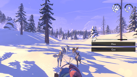 Survive the Alaskan tundra in the story-driven, rogue-lite survival adventure game, The Red Lantern, as you find your way home with your team of five sled dogs. (Graphic: Business Wire)