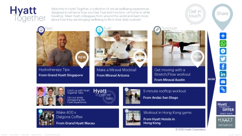 Hyatt Together, a digital platform for guests, members and customers, features wellbeing experiences created by Hyatt colleagues. (Graphic: Business Wire)
