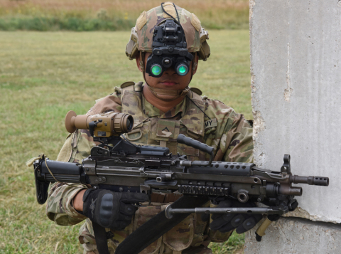 Enhanced Night Vision Goggle – Binocular (ENVG-B). Use of U.S. DoD visual information does not imply or constitute DoD endorsement. (Photo: Business Wire)