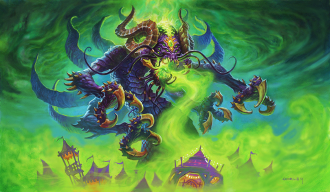 Players can tap into the astonishing match-swinging powers of the Old Gods, who return in surprising forms as Legendary minions. (Graphic: Business Wire)