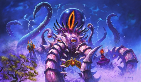 The Old Gods—timeless beings of terrifying power that ruled a young Azeroth—return to Hearthstone in Madness at the Darkmoon Faire. (Graphic: Business Wire)