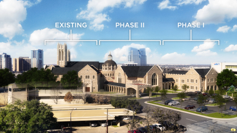 First United Methodist Church of Fort Worth follows its legacy of courage and commitment, breaking ground on Phase I of its NEXT90 building expansion program. (Photo: Business Wire)