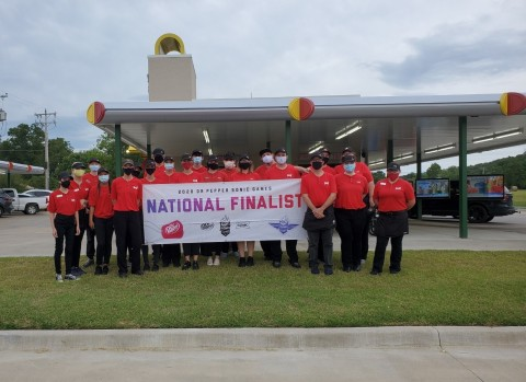 SONIC® Drive-In honored the team from 501 North Main Street in Gore, Okla. with gold medals and the championship title in the 2020 DR PEPPER SONIC GAMES (Photo: Business Wire)