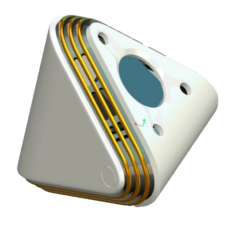 Concept rendering of portable air purifier to be available in 2021 utilizing NS Nanotech's far-UVC solid-state light source.(Photo: Business Wire)