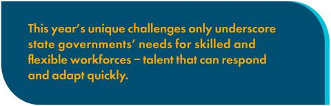 This year's unique challenges only underscore state governments' need for skilled and flexible workforces — talent that can respond and adapt quickly. (Graphic: Business Wire)