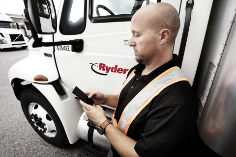 RyderGyde, Ryder's digital fleet management tool, is optimizing communication, minimizing human interaction, and ultimately promoting a health-focused experience for drivers and Ryder employees. (Photo: Business Wire)