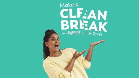 Lightlife and Lilly Singh team up to help people make a 'clean break' from unwanted habits. (Photo: Business Wire)