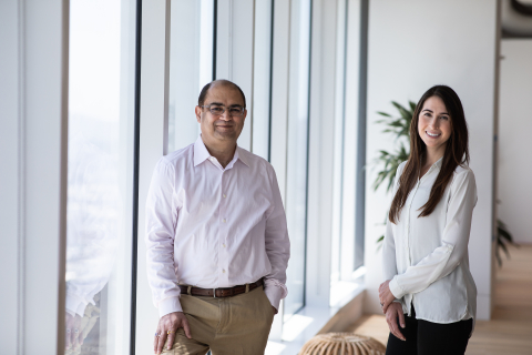NTTVC Founding Partner Vab Goel and Partne Fay Hazaveh Costa (Photo: Business Wire)